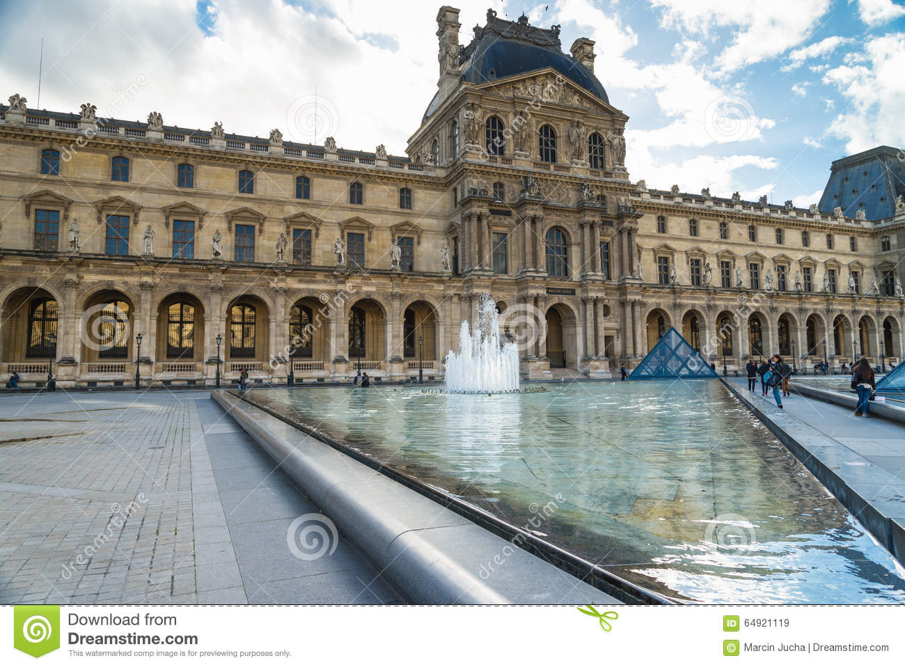 Louvre Museum In Paris France Editorial Stock Image Image 64921119