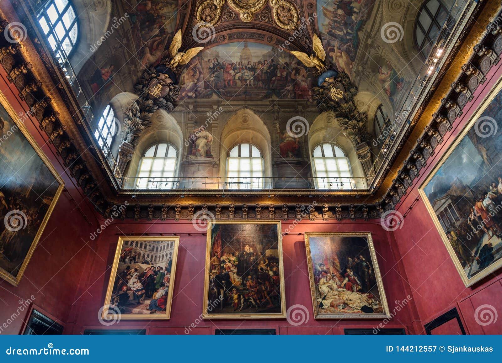 Louvre muzealny galeria sztuki, Paryski Francja