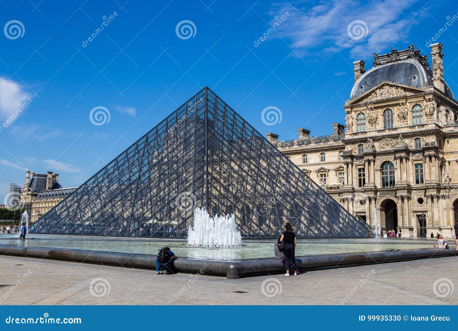 Louvre Ostrosłup Pyramide Du Louvre, Paris