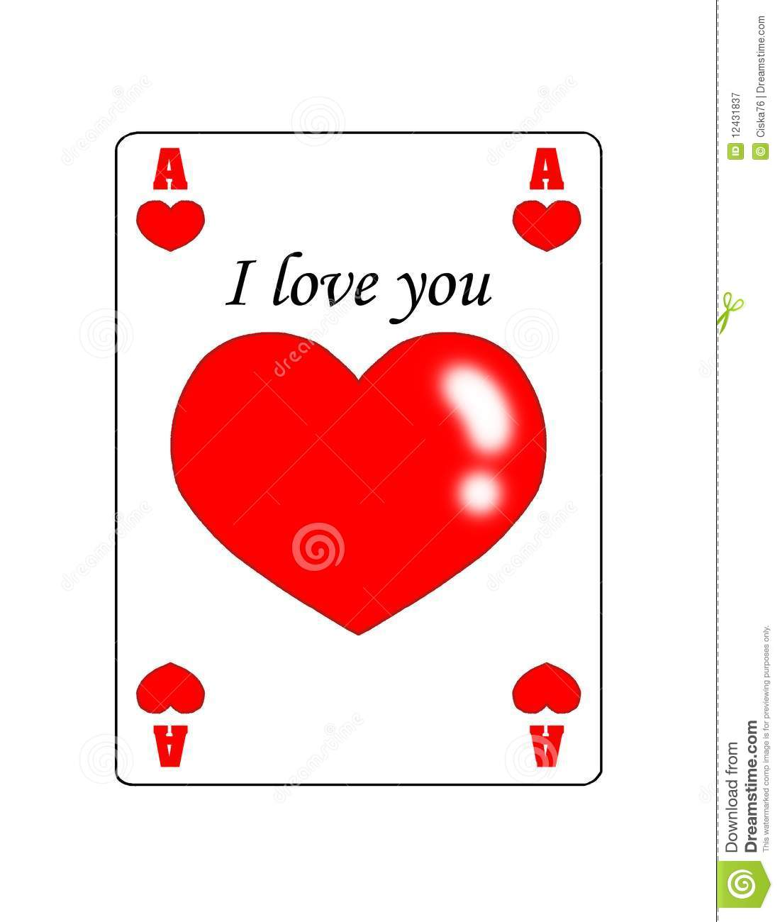 Love Ace Of Hearts Royalty Free Stock Photography Image Pictures Of Hearts That Say I You To Color