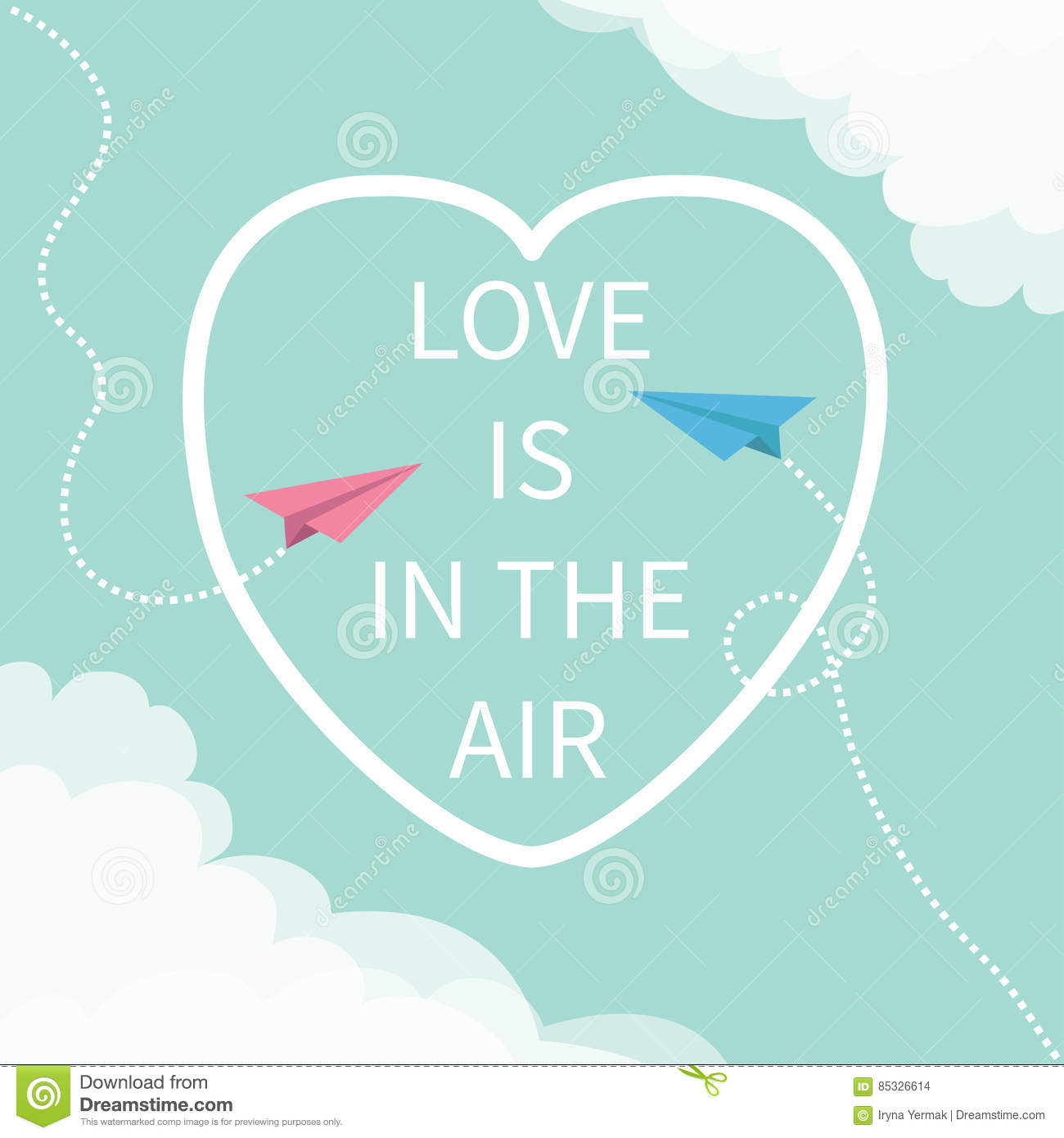 Heart Happy Valentines Day Love Is In The Air Cartoon