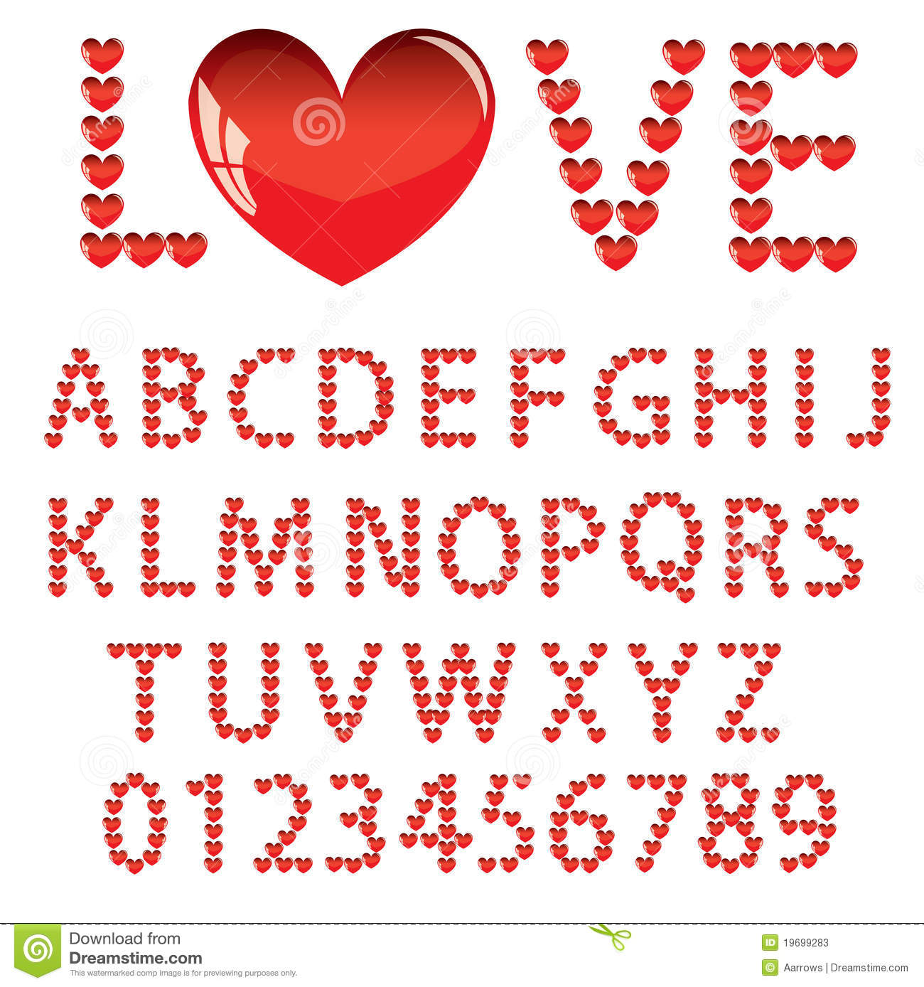 Love The Alphabet With A Heart Stock Photos - Image: 19699283