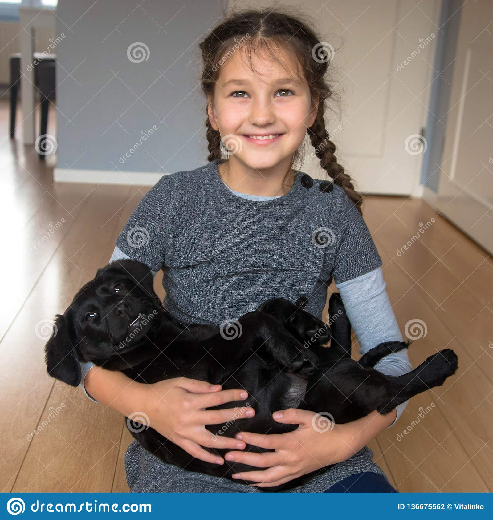 Love for animals concept. Pet and child