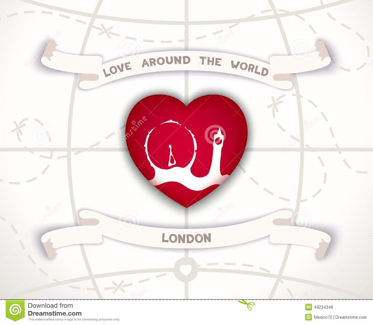 Love Around The World Stock Vector Illustration Of Landscape 49234348