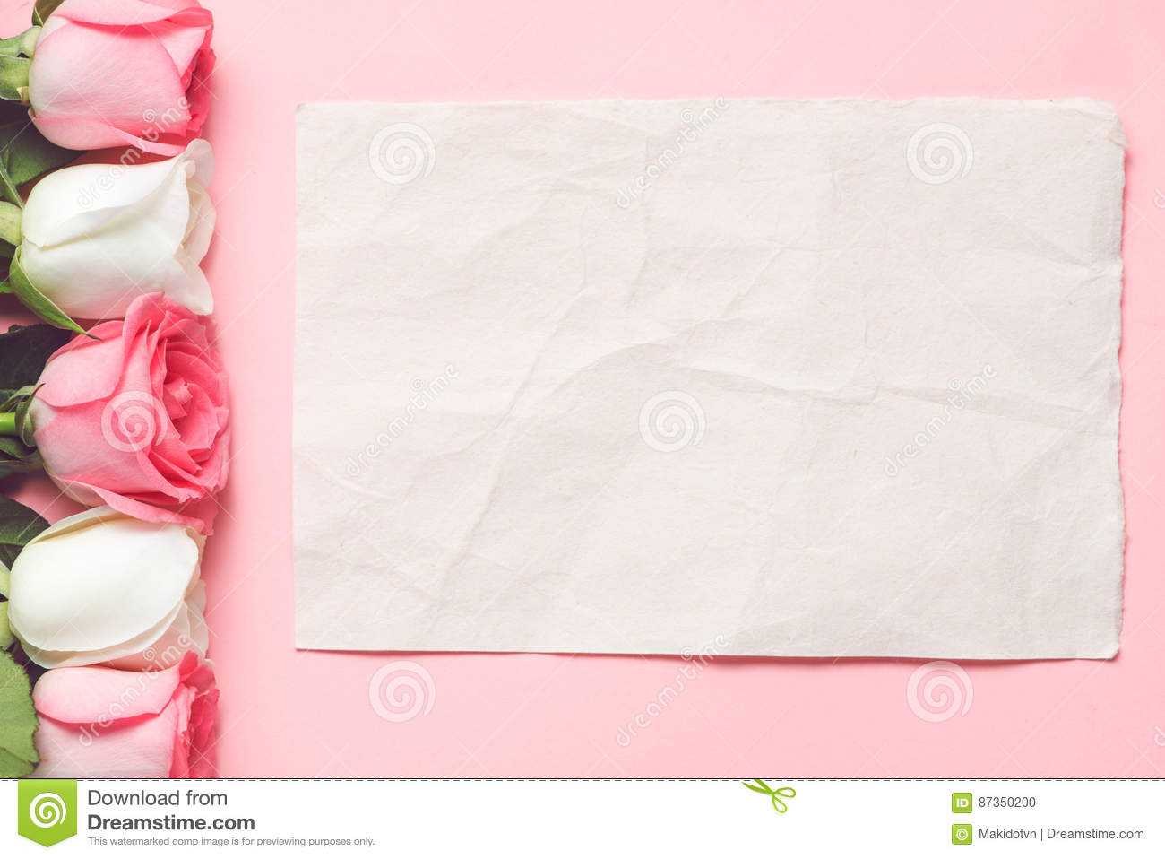Love Background Concept For Greeting On Mother Or Woman Day Stock