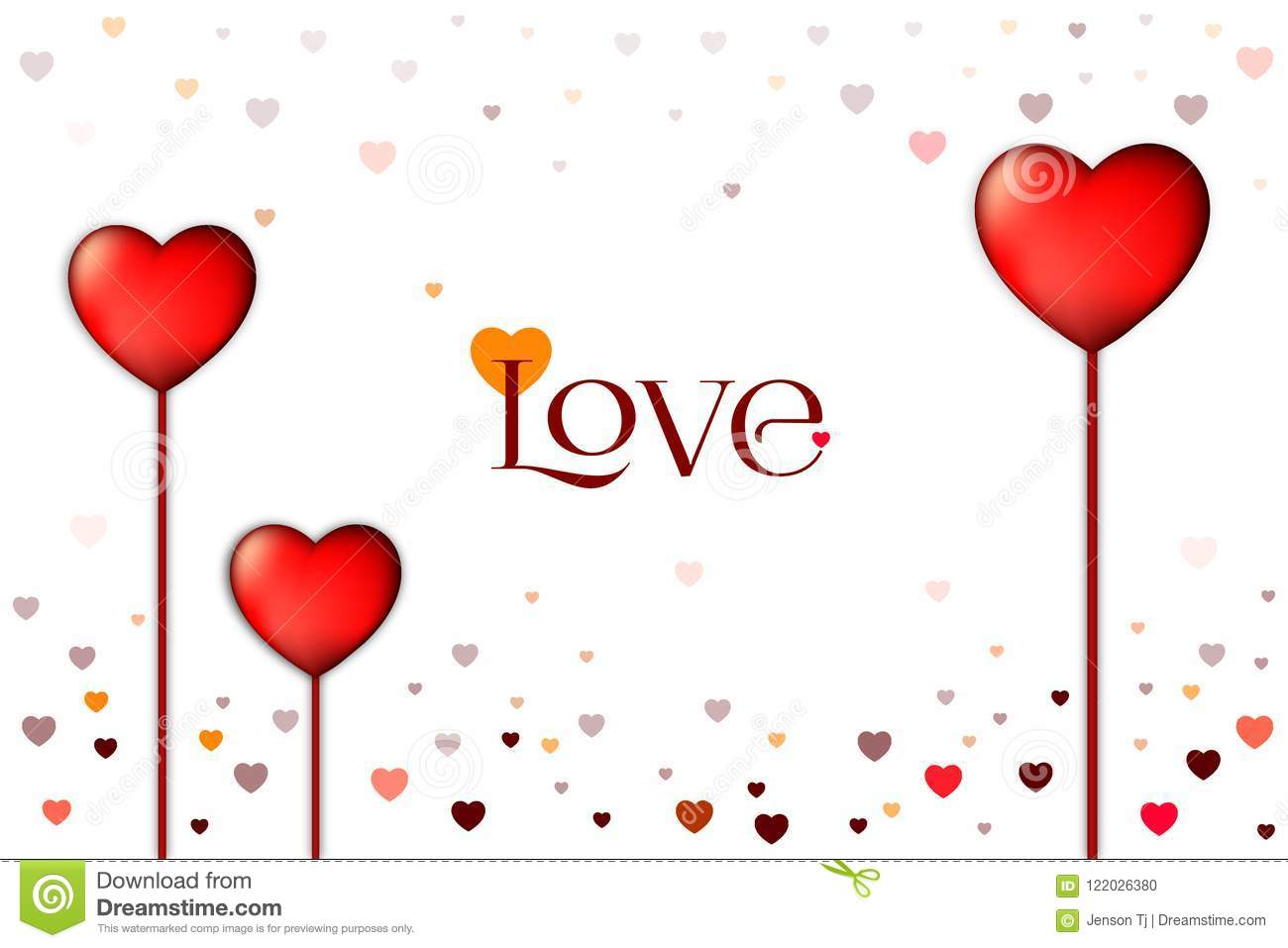 Love Background And White Background For Lovers And Valentine
