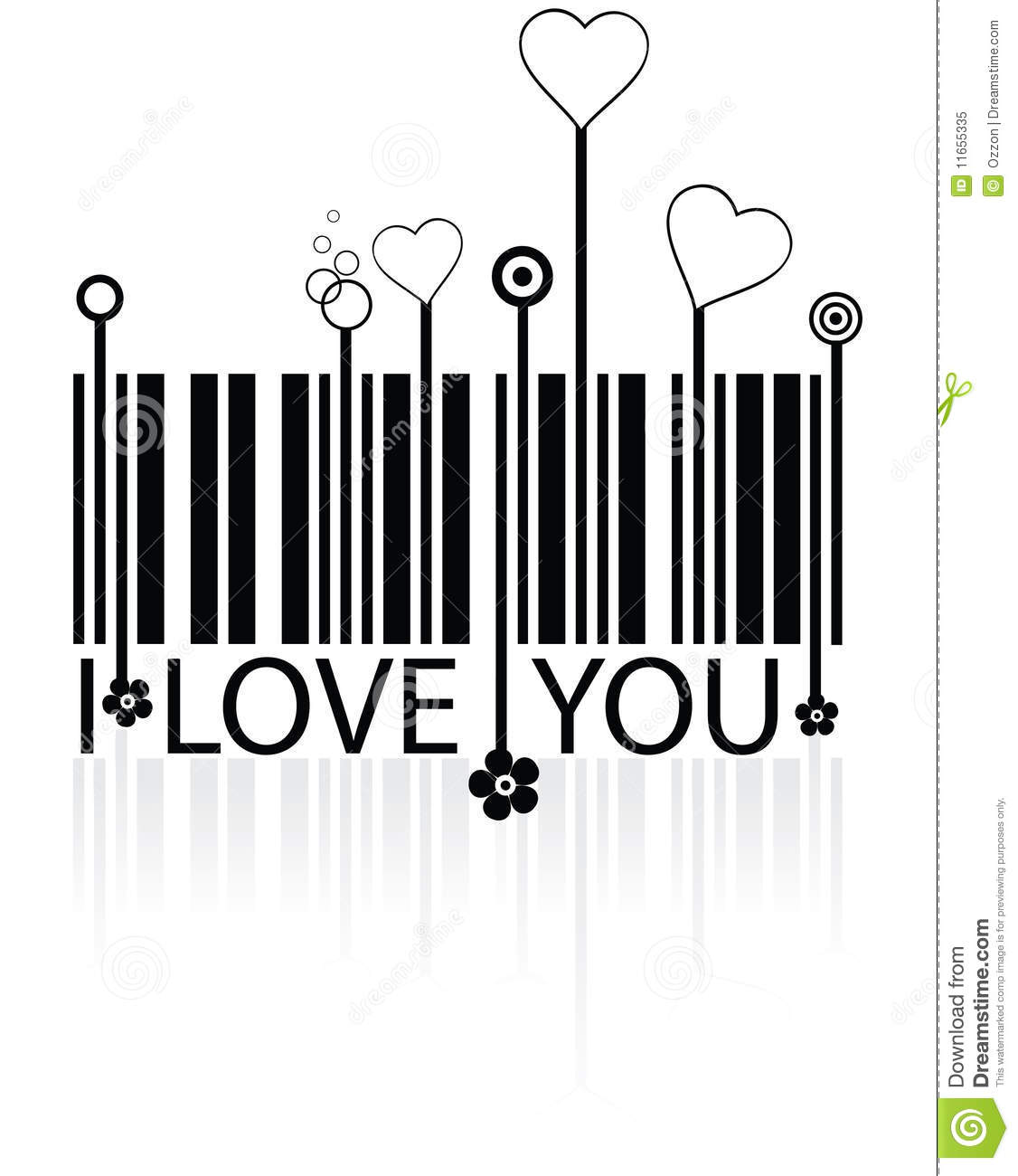 Love barcode stock vector  Illustration of concept, conceptual