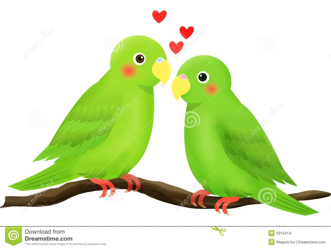 Love Bird Stock Images - Image: 3315414