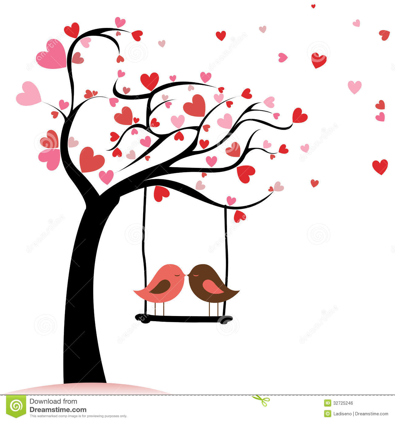 love birds stock vector illustration of painting sketching 32725246 rh dreamstime com love birds images clipart love bird free clipart