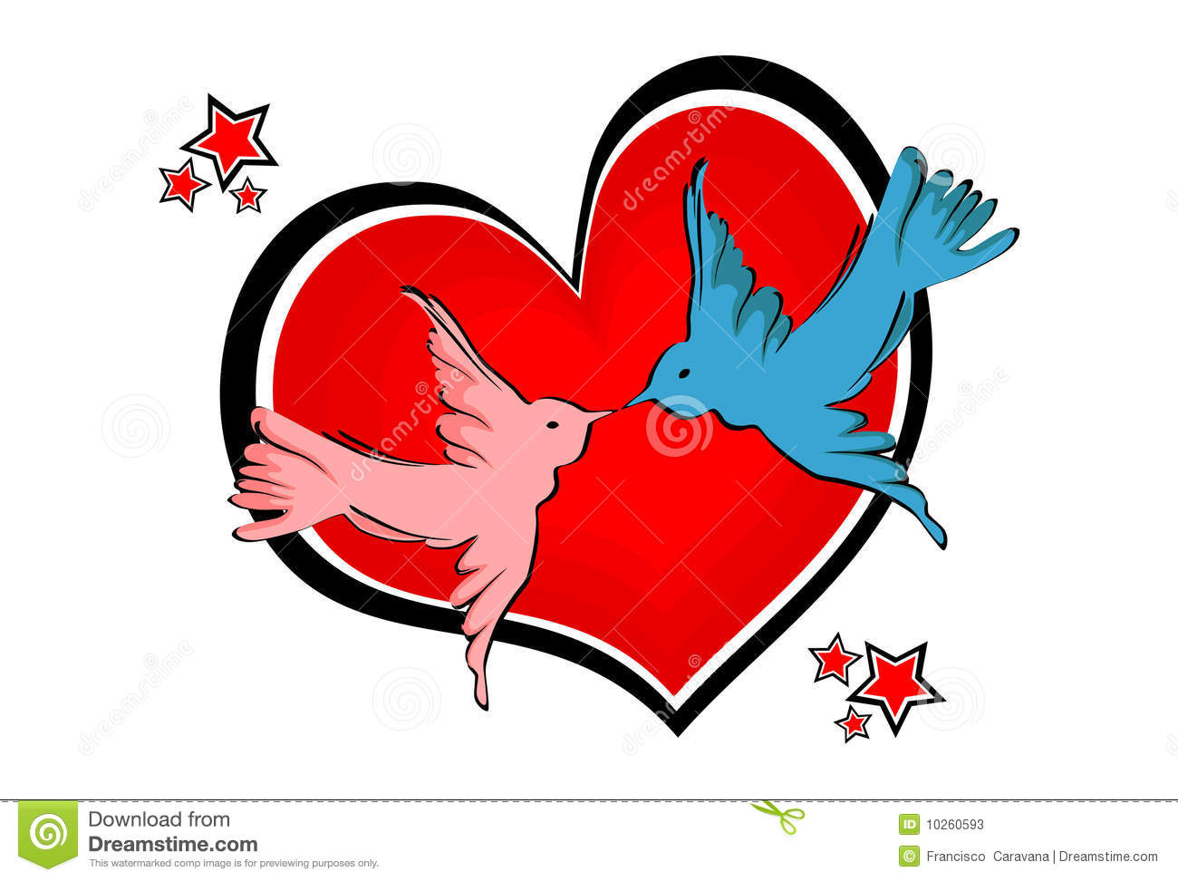 Love birds - Vector