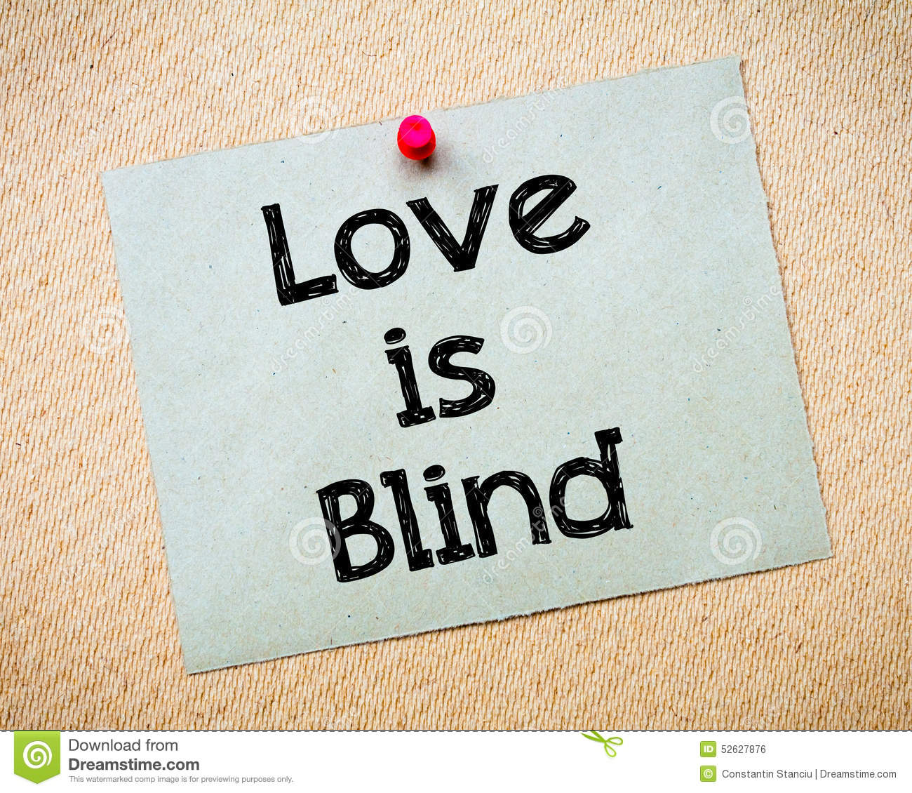 Love is blind essay
