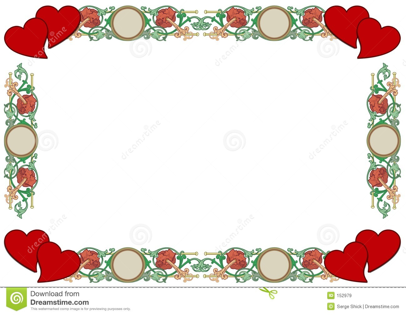 Love Border Royalty Free Stock Images - Image: 152979