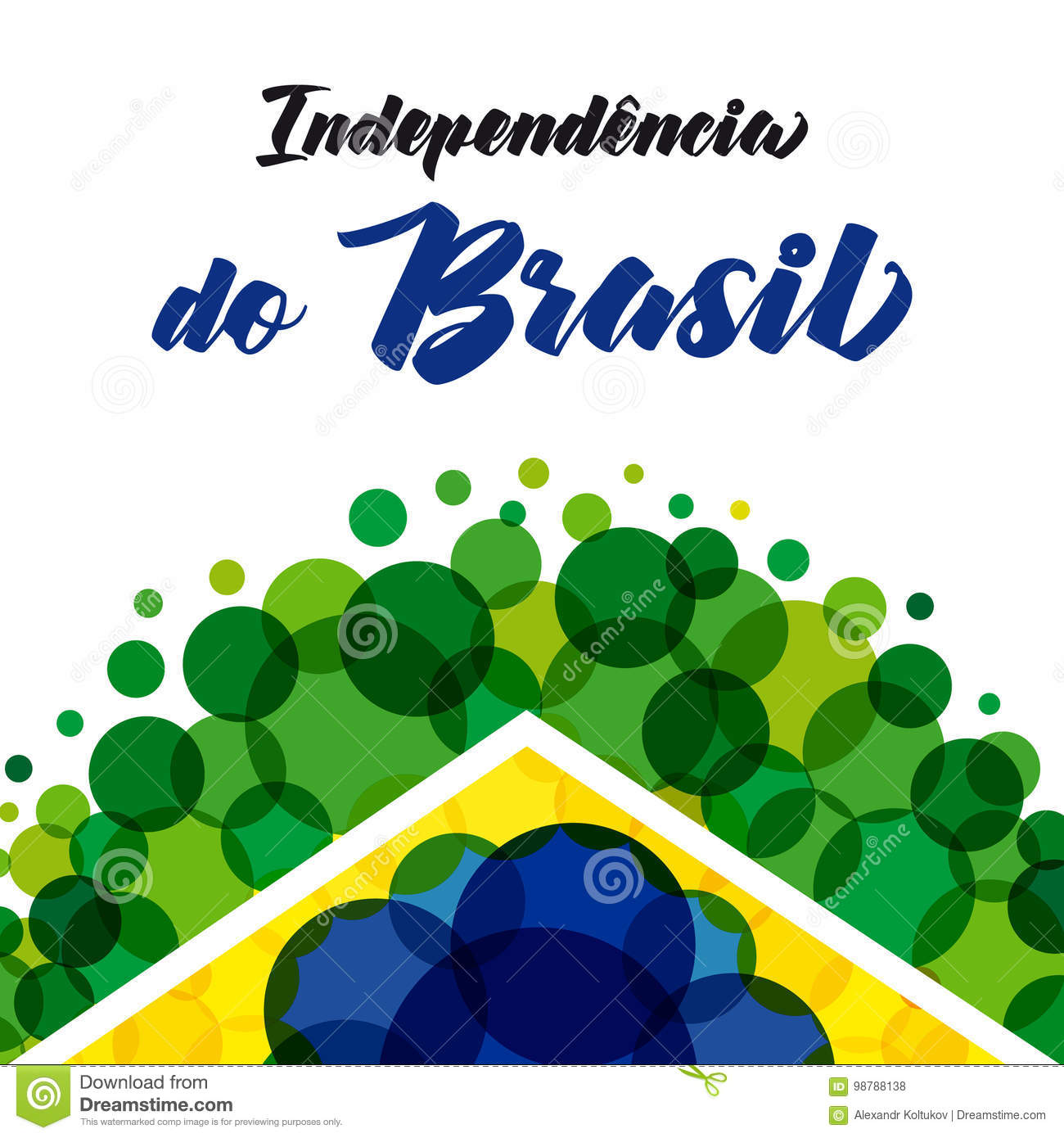 Independence Day Of Brazil Colored Stock Vector Illustration Of