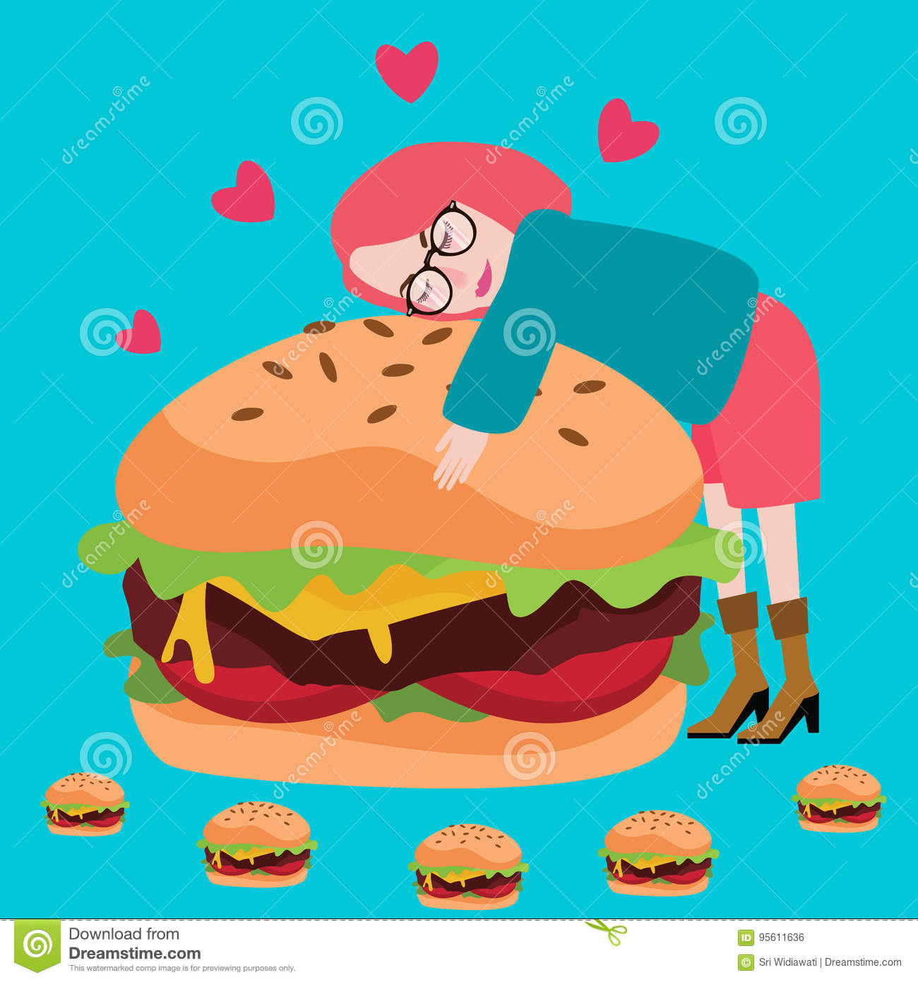 Love burger junknfood lover delicious meat tasty