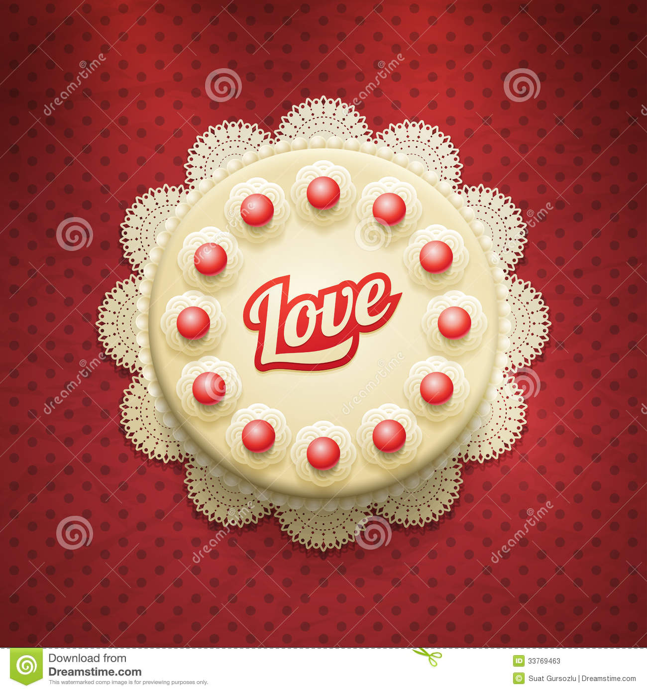 Love Cake Stock Vector Illustration Of Circle Birthday