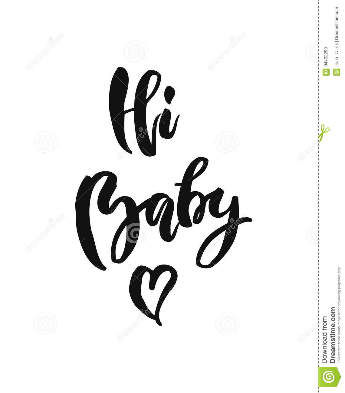 hi baby images type cartoons illustrations vector stock images 6292