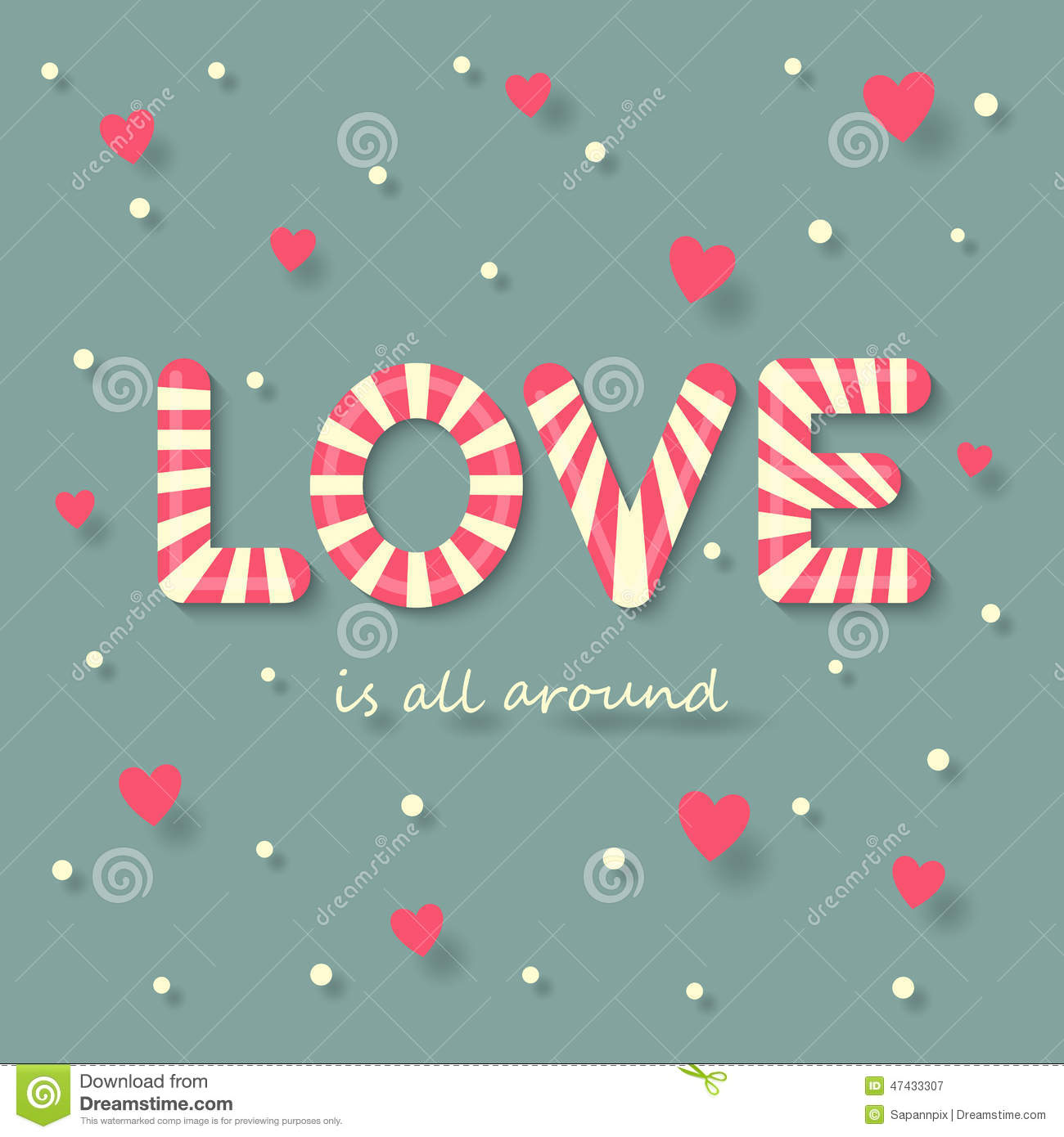 Love candy Background Stock Vector - Image: 47433307