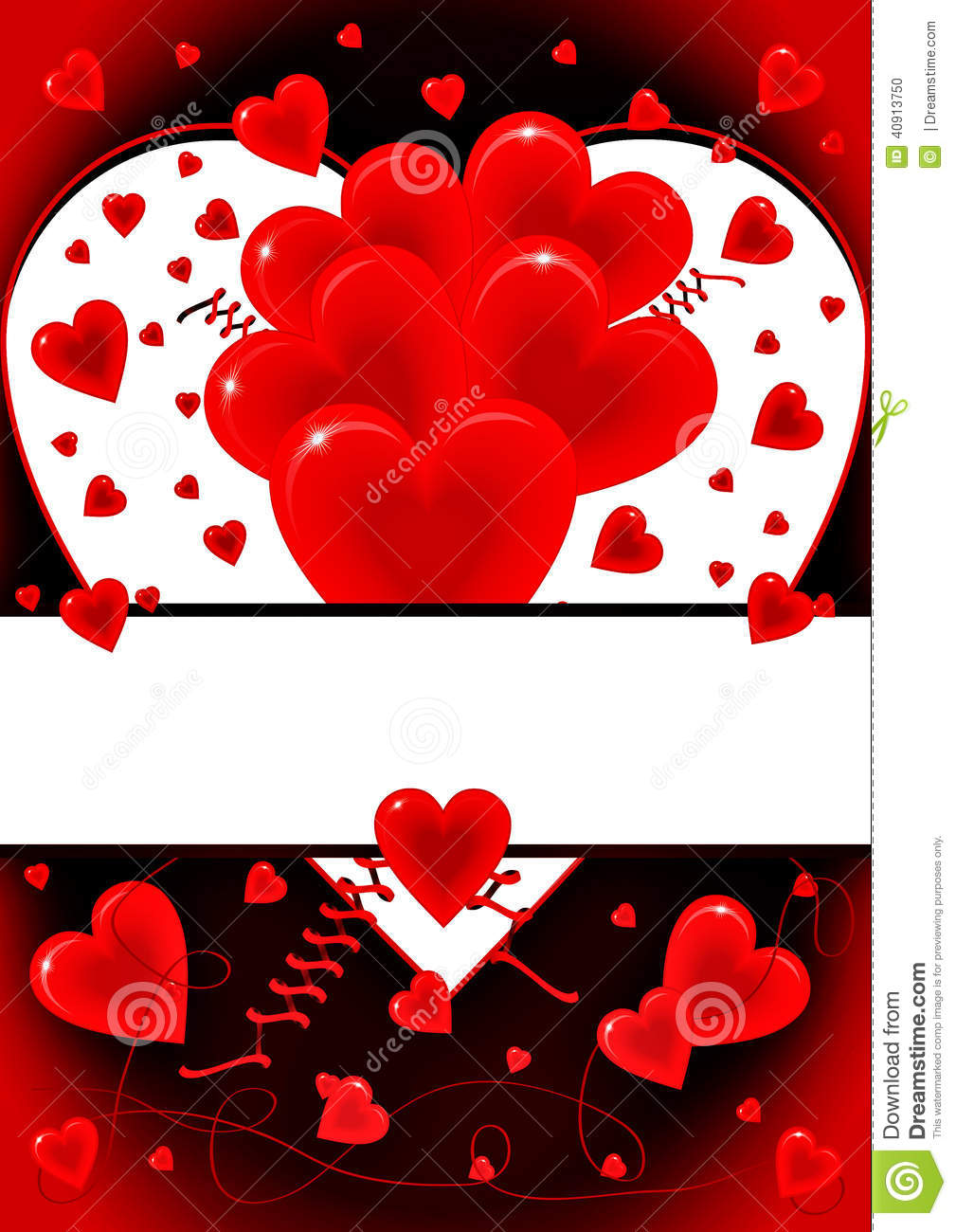 Love Card With Hearts Symbols Stock Vector Illustration Of Cupid