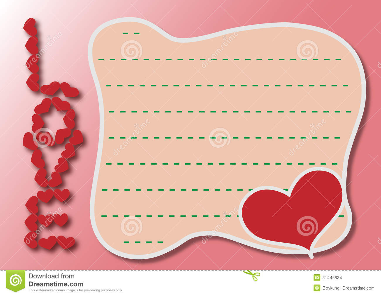 love you card for the celebration of a special Saint Valentine Day.