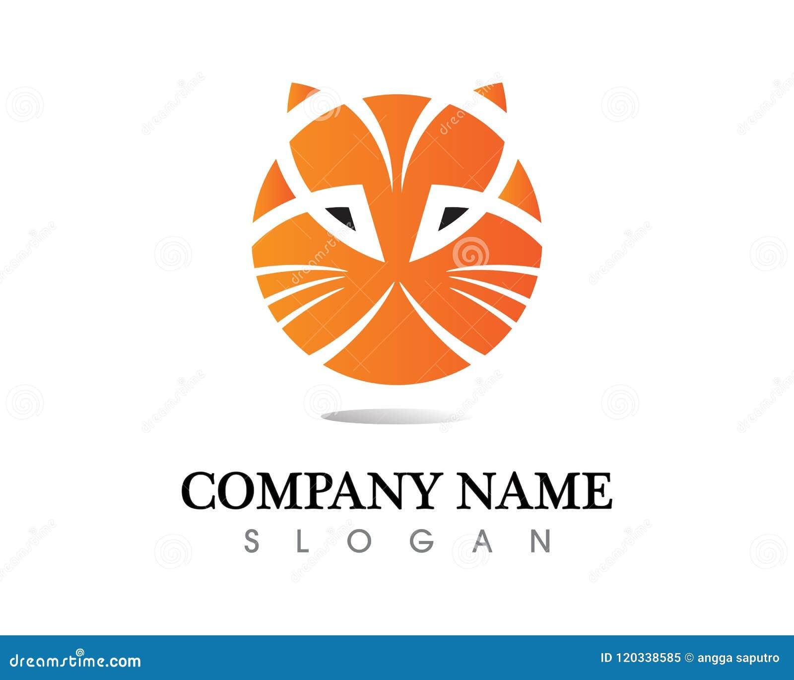 Animal Love Cat Symbols Logo And Symbols Template Stock Vector