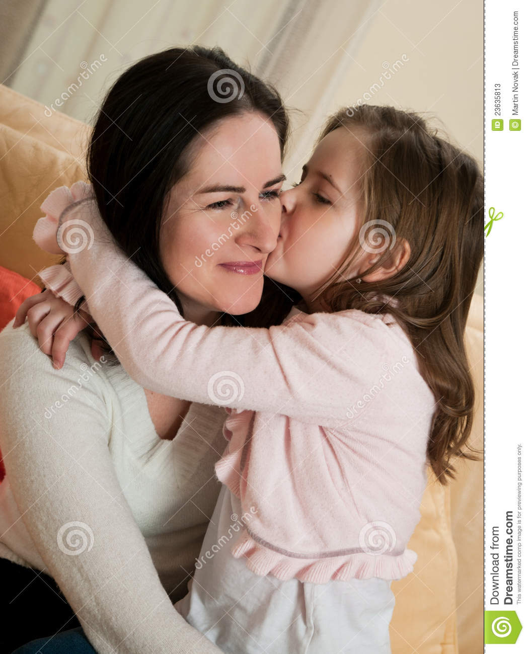 Love Child Kissing Mother Stock Image Image Of Kiss Enjoy 23635813