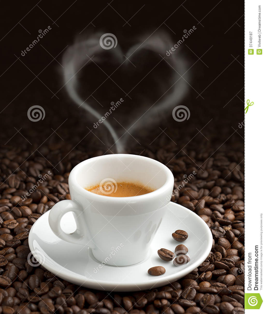 Love For Coffee Stock Image. Image Of Fresh, Aromatic