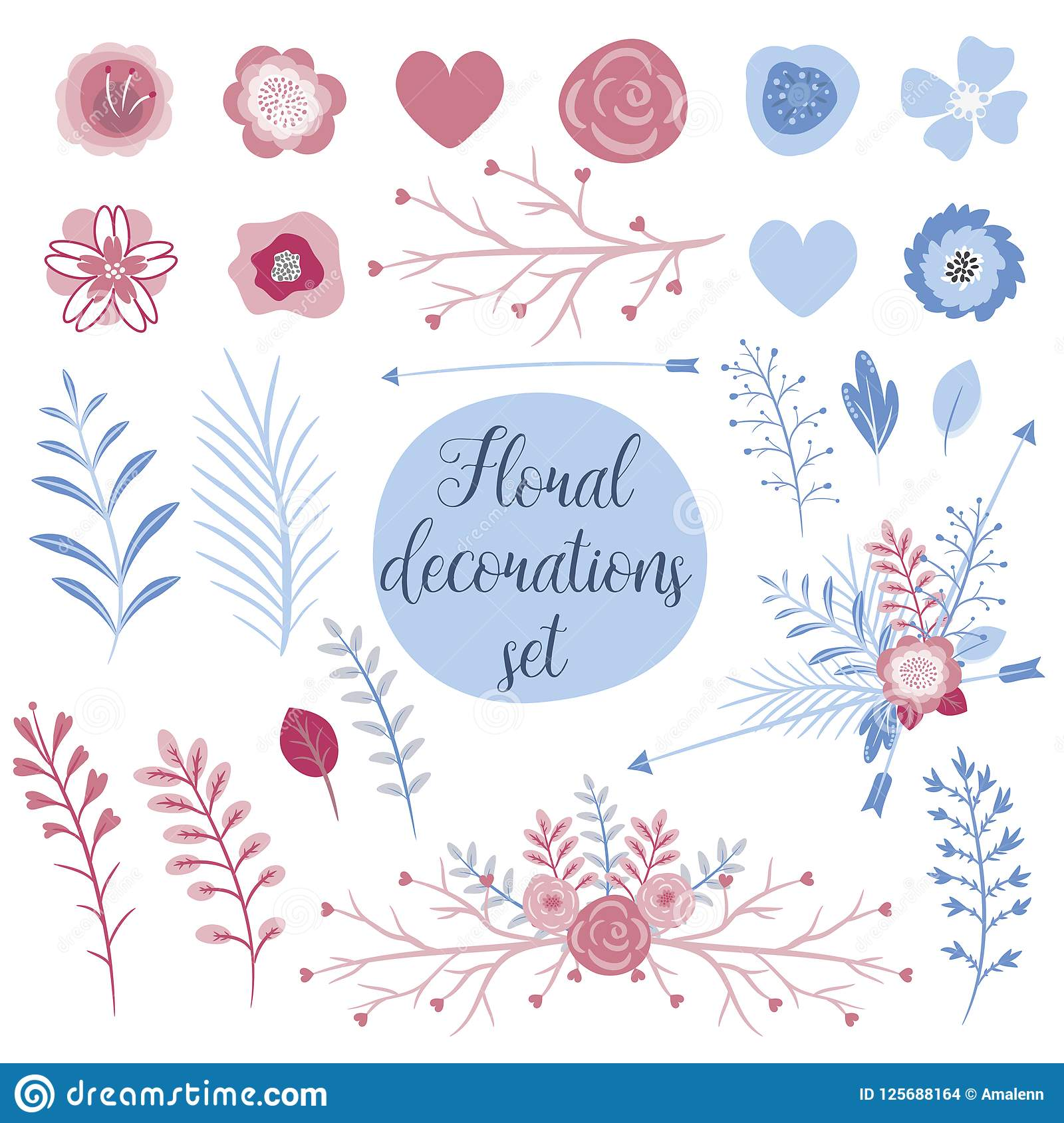 love collection set for cards. perfect for valentines day, stickers