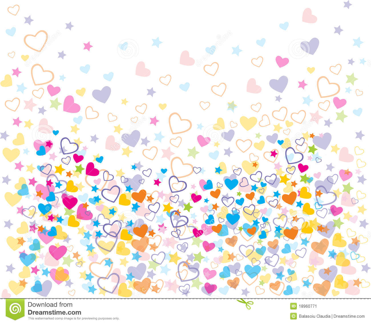Love Colorful Seamless Patterns Stock Image Image 18960771