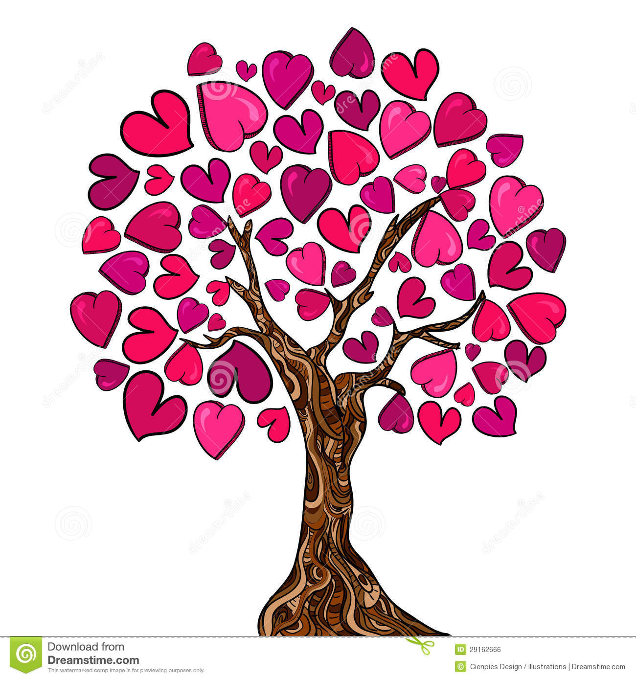 Love Concept Tree Card Royalty Free Stock Image - Image ...