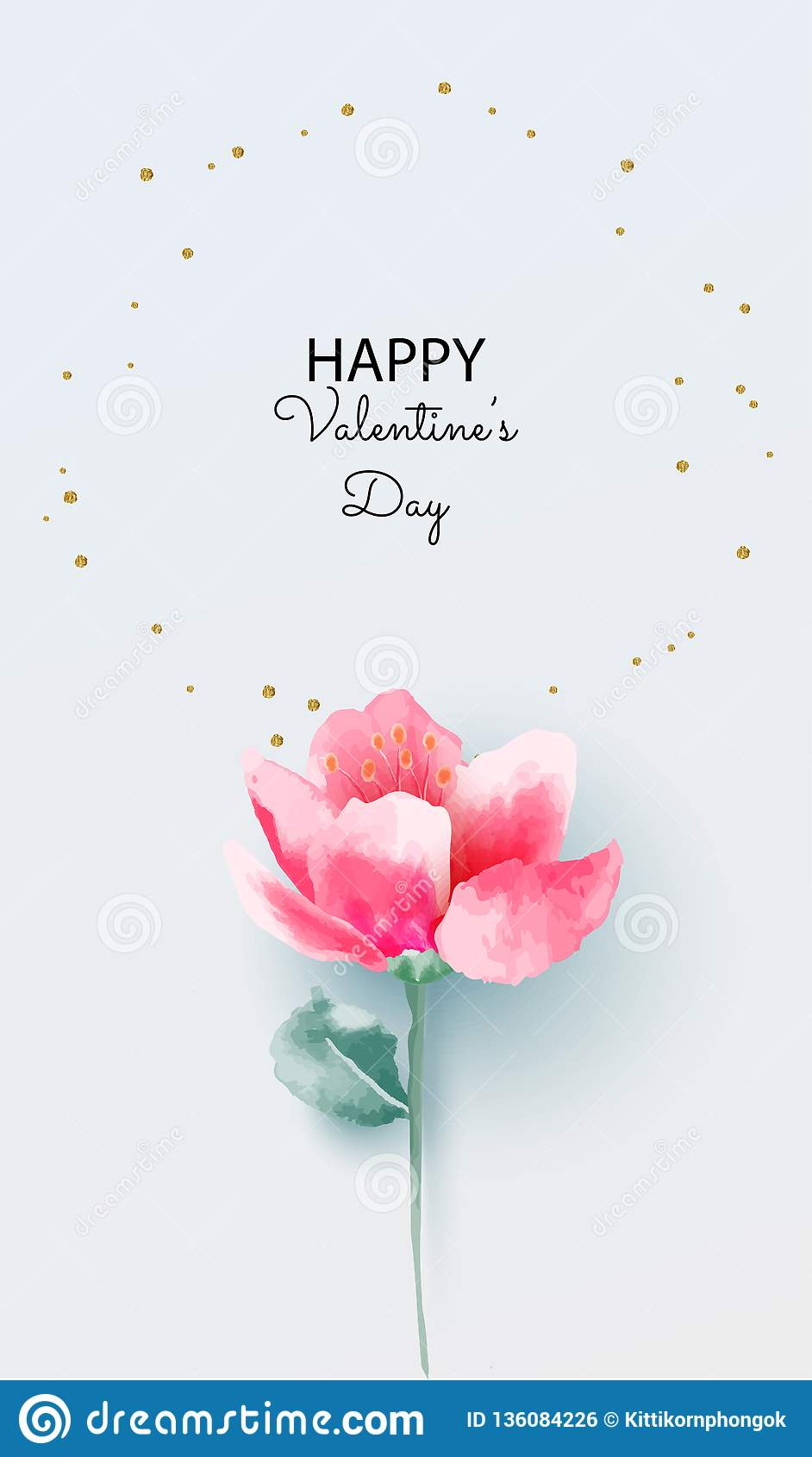 Love Concept Valentine S Day Background Pink Flower
