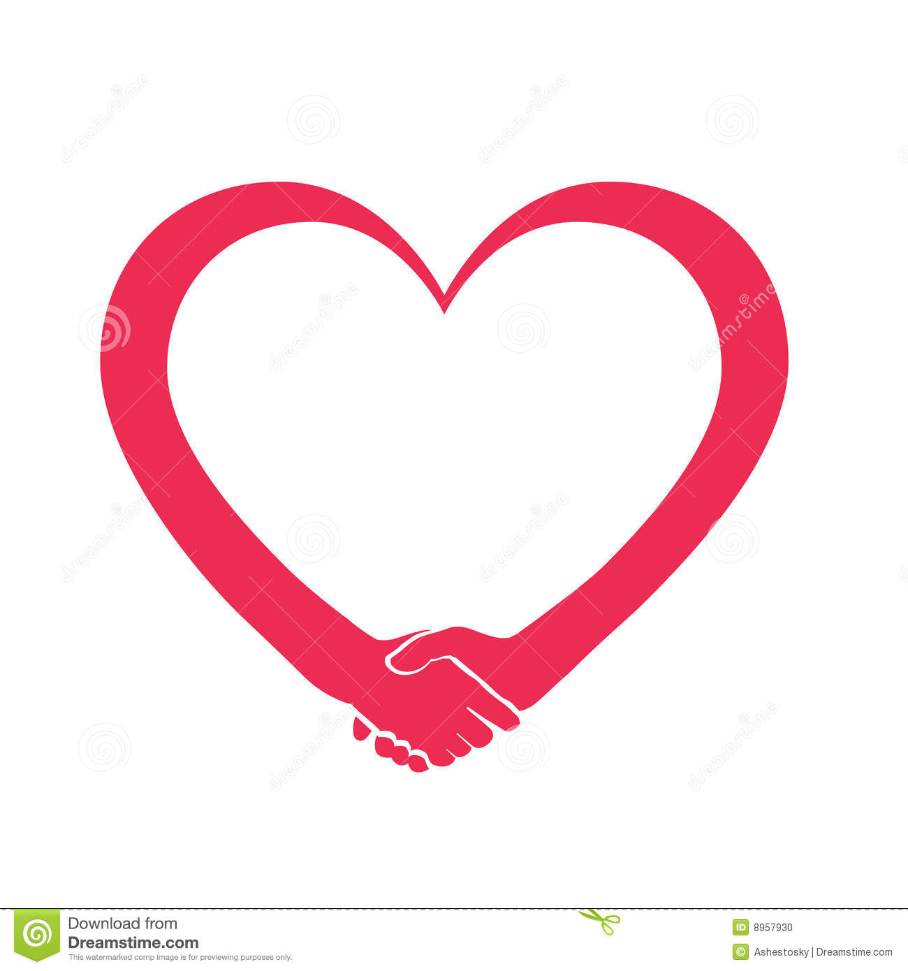 Love and cooperation heart logo stock photo image 8957930 The designlover