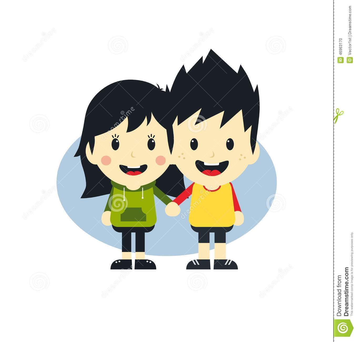 Cartoon Characters Couples : Love couple cartoon character stock vector image