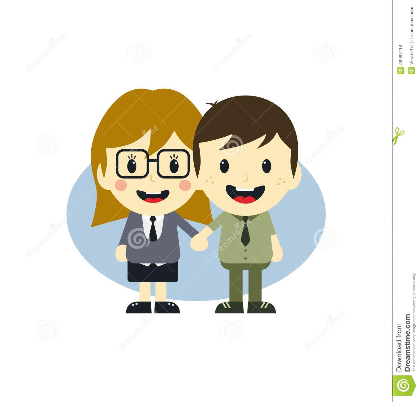 Cartoon Characters Couples : Love couple cartoon character stock vector illustration