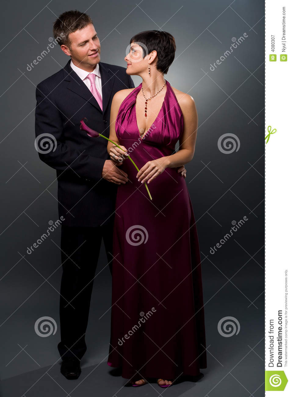 eb06138ddac9 Love Couple In Evening-dress Stock Image - Image of cloak, happiness ...