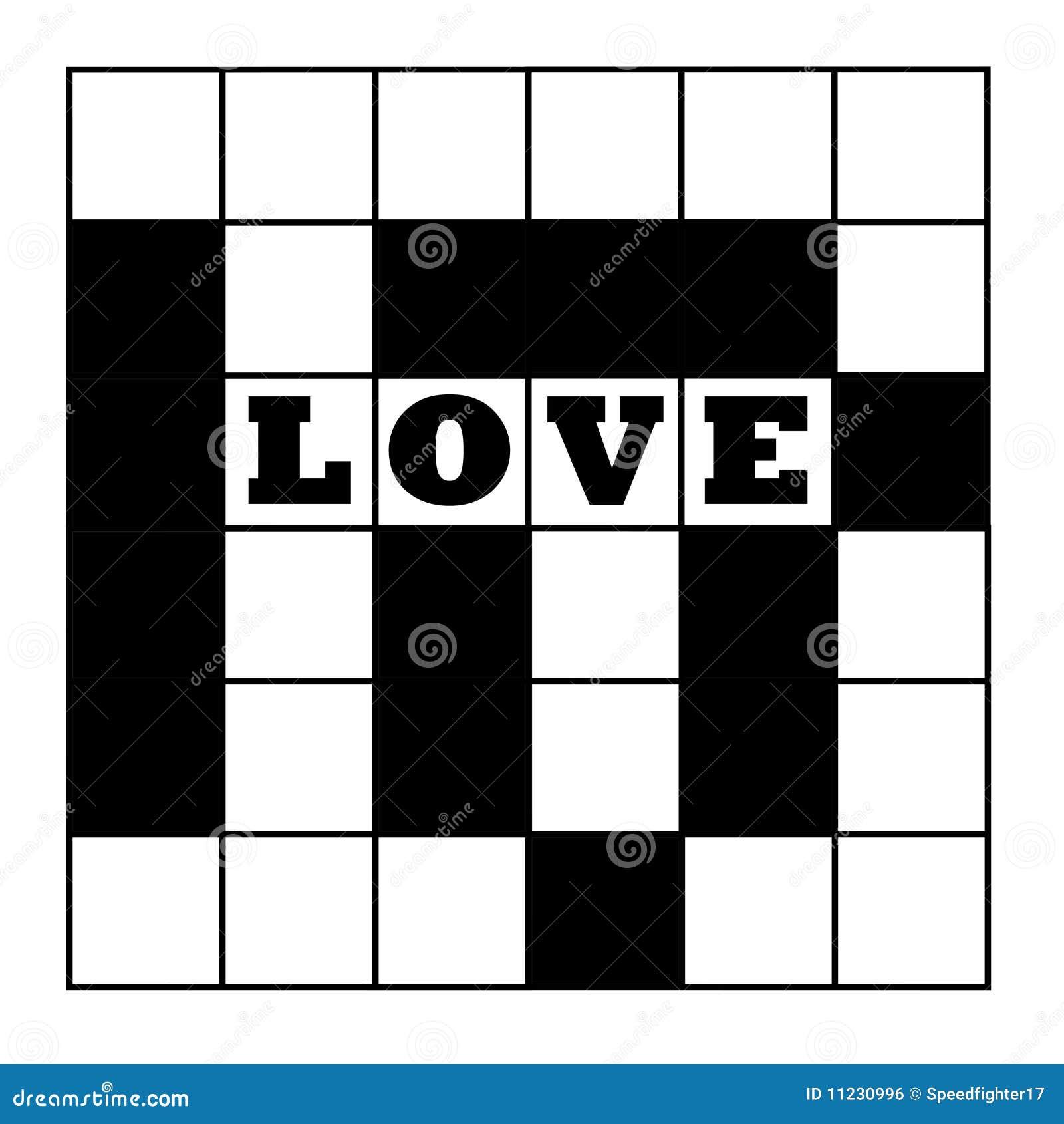love crossword puzzle stock illustration  illustration of