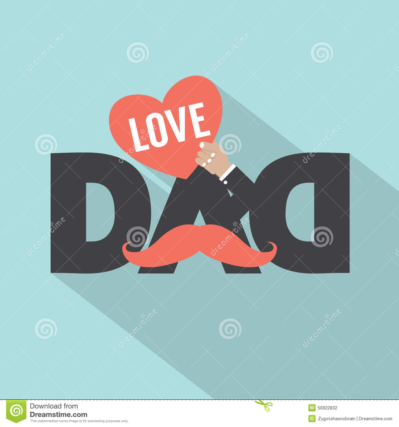 Love Dad Typography Design