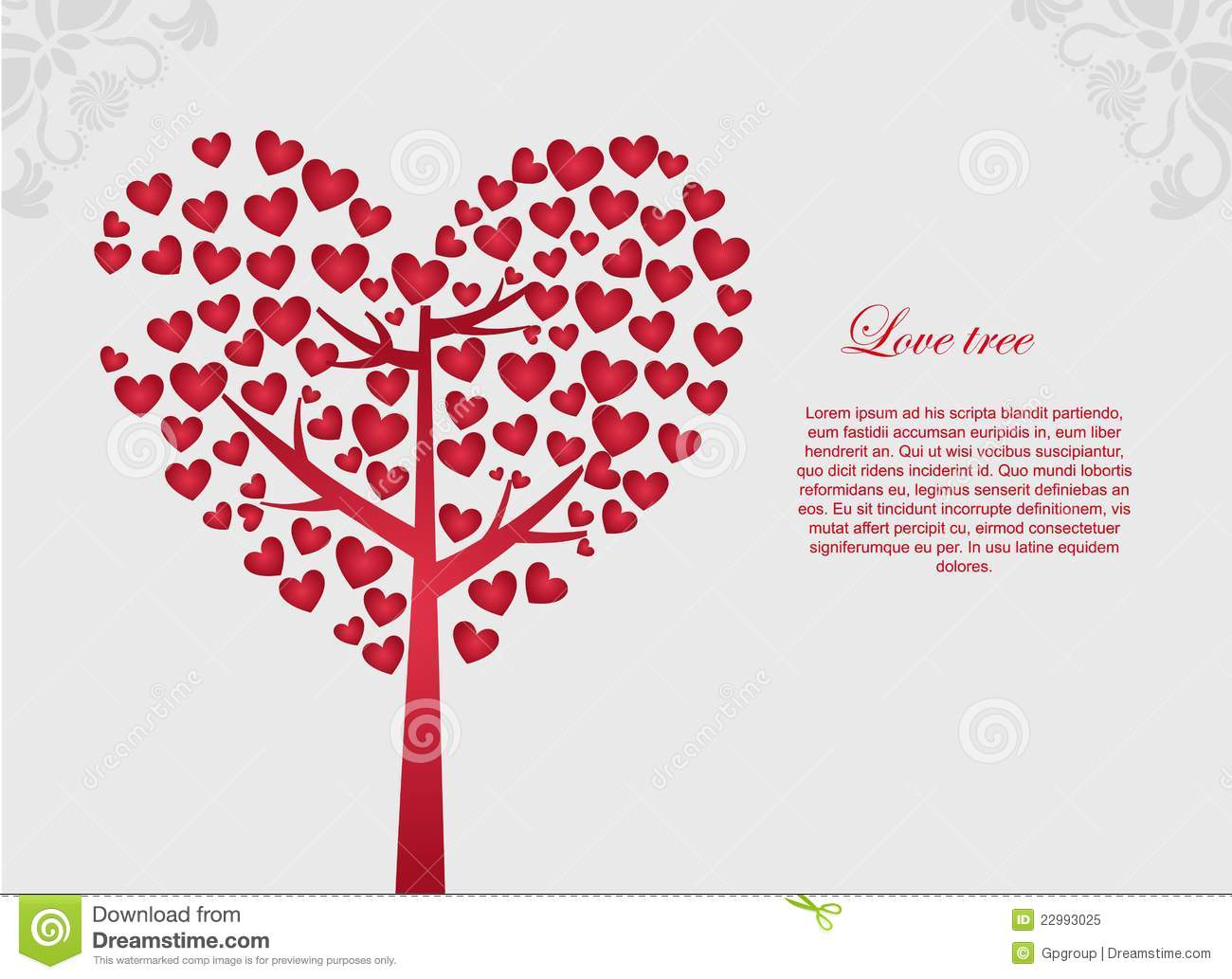 Love design stock vector illustration of ornament leaf for Love in design