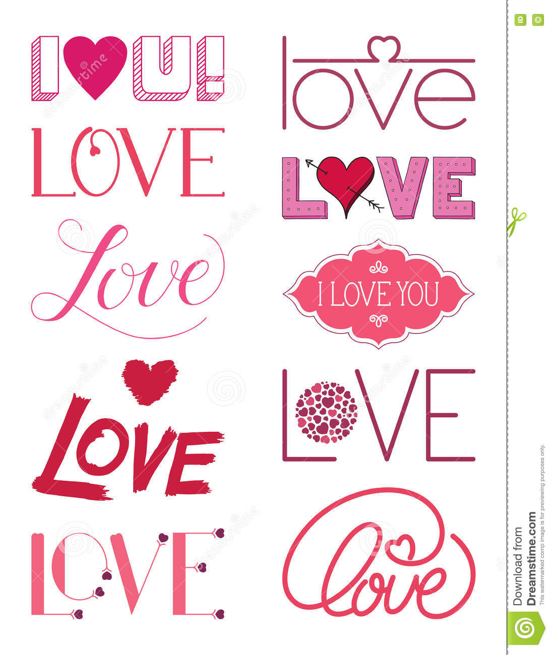 Calligraphic elements for different design cartoon vector for Different design