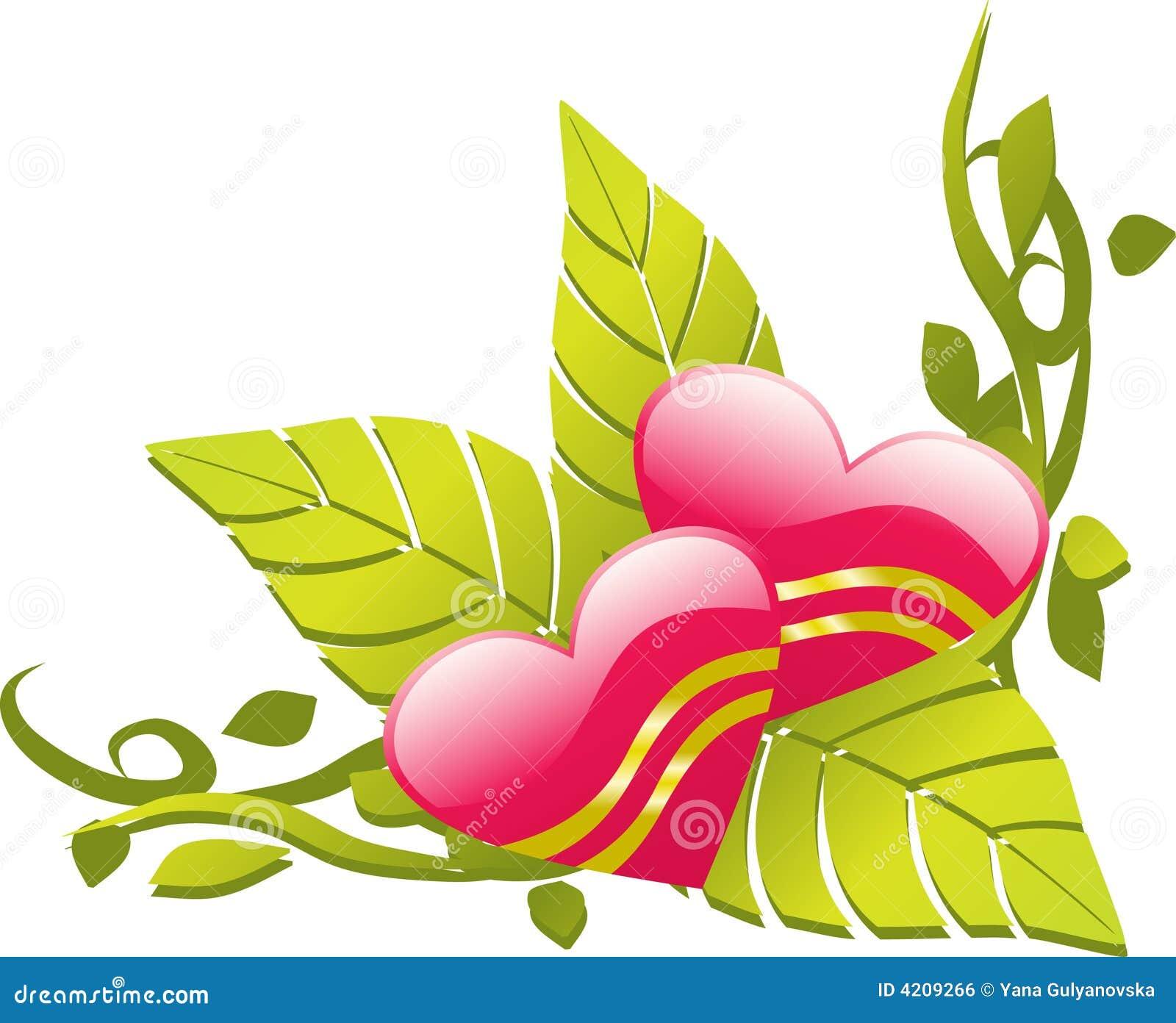 Love Design Floral Corner Stock Vector Illustration Of
