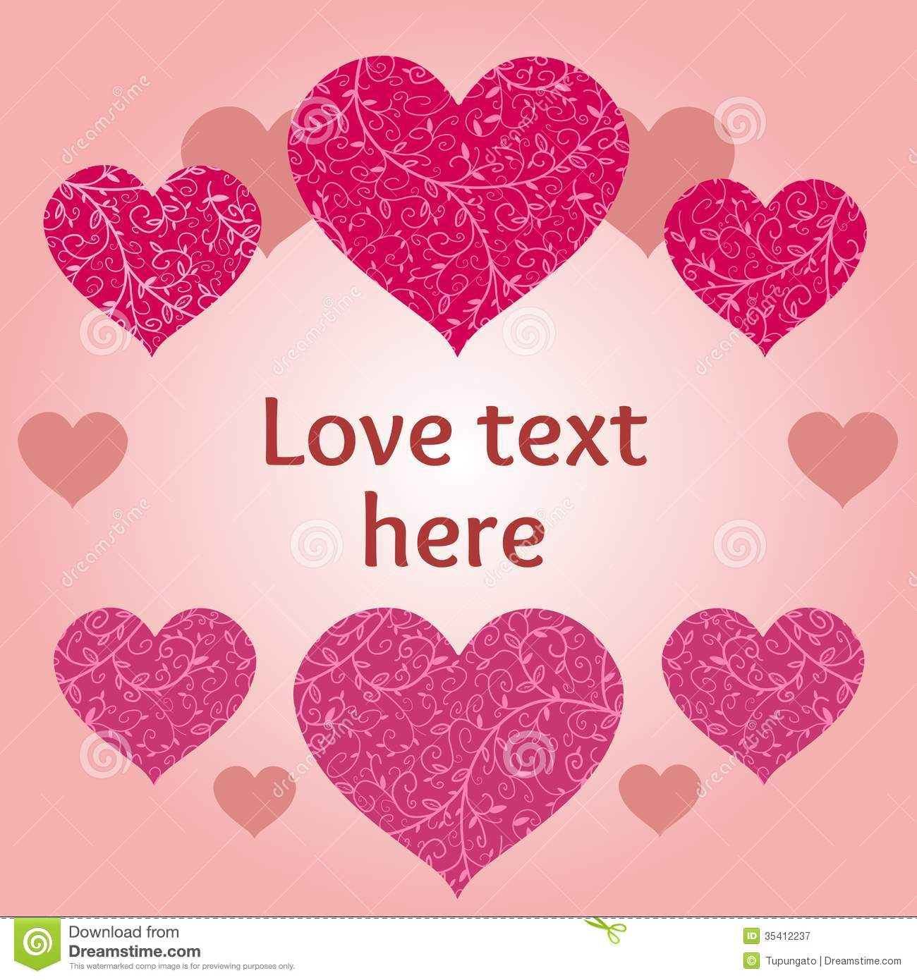 Love design stock vector illustration of vector The designlover