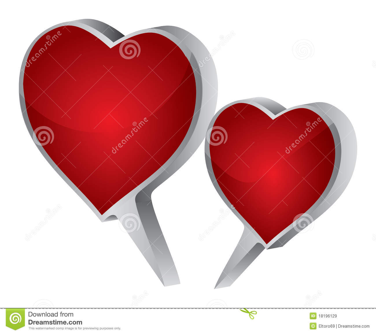 Love Images In: Love Dialogue Stock Illustration. Illustration Of Beauty