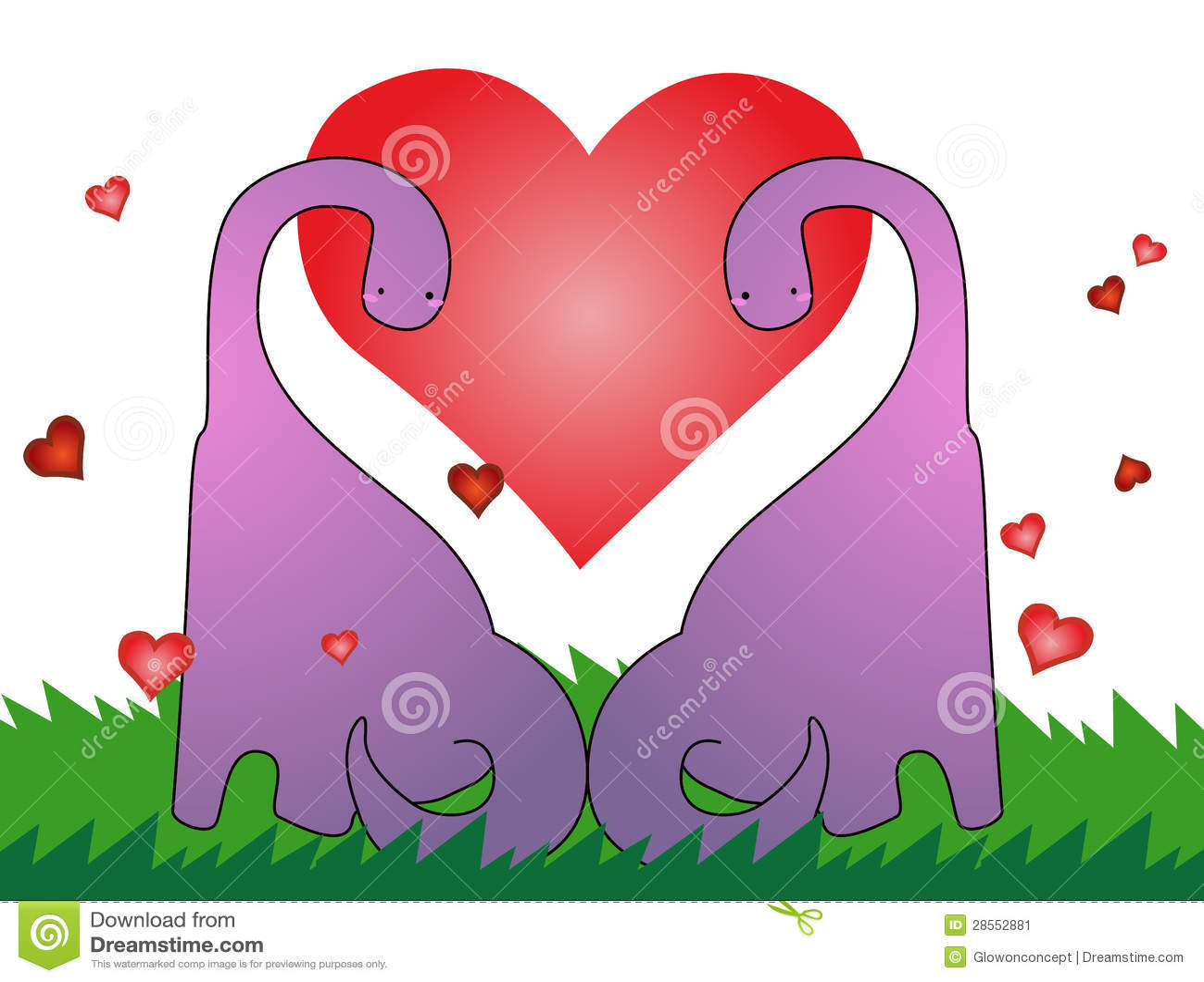 Love Dinosaur, Valentines Card Stock Image - Image: 28552881