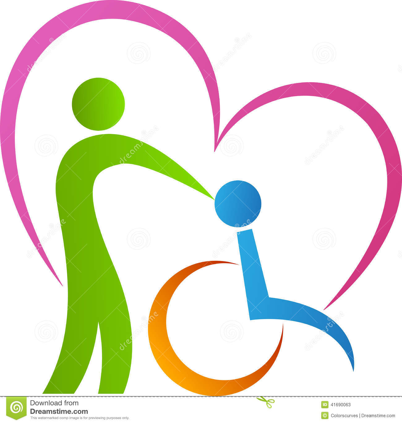 Love Disabled Stock Vector Image 41690063