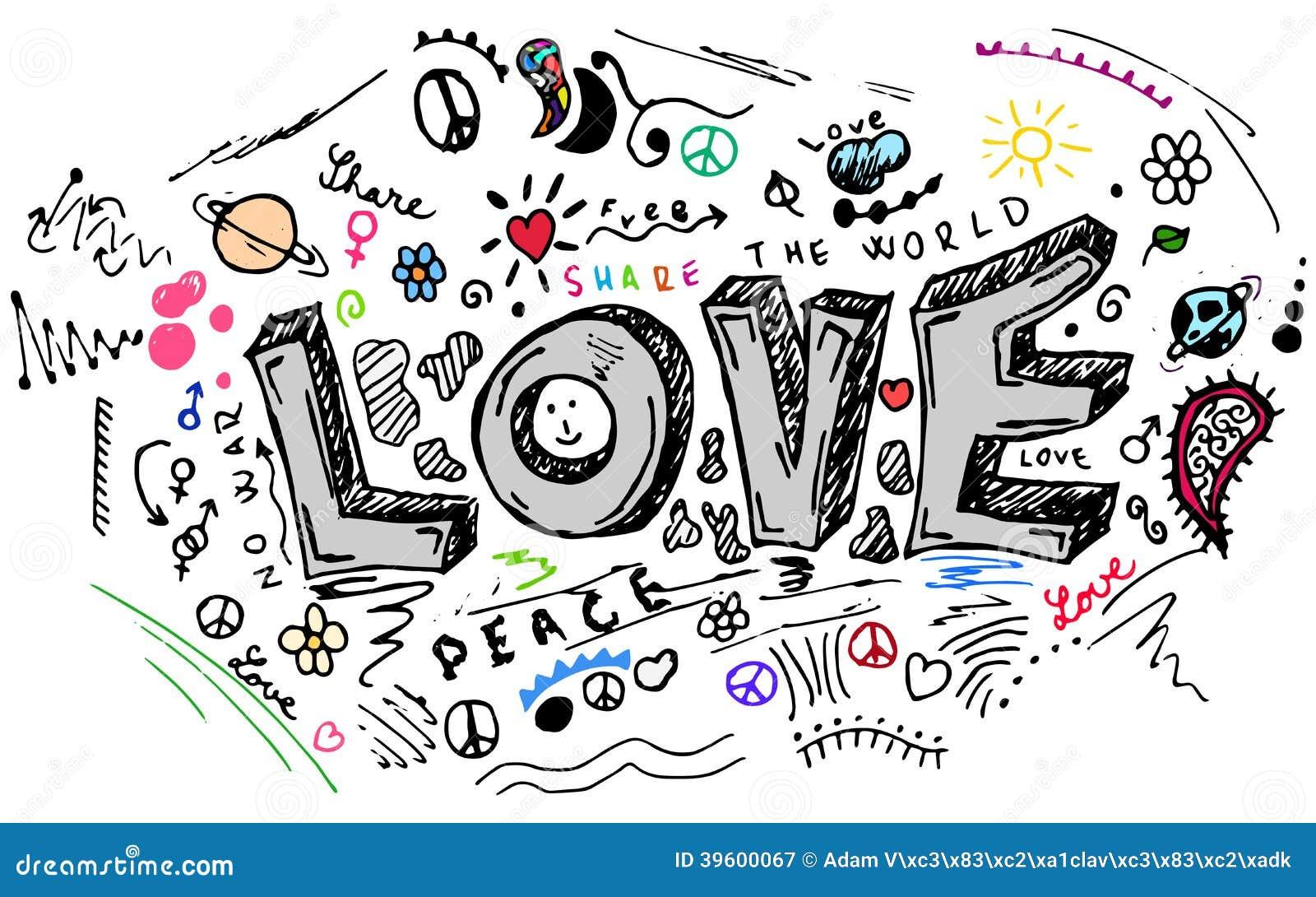 Love Doodle Sketch Vector Set Stock Vector Image 39600067