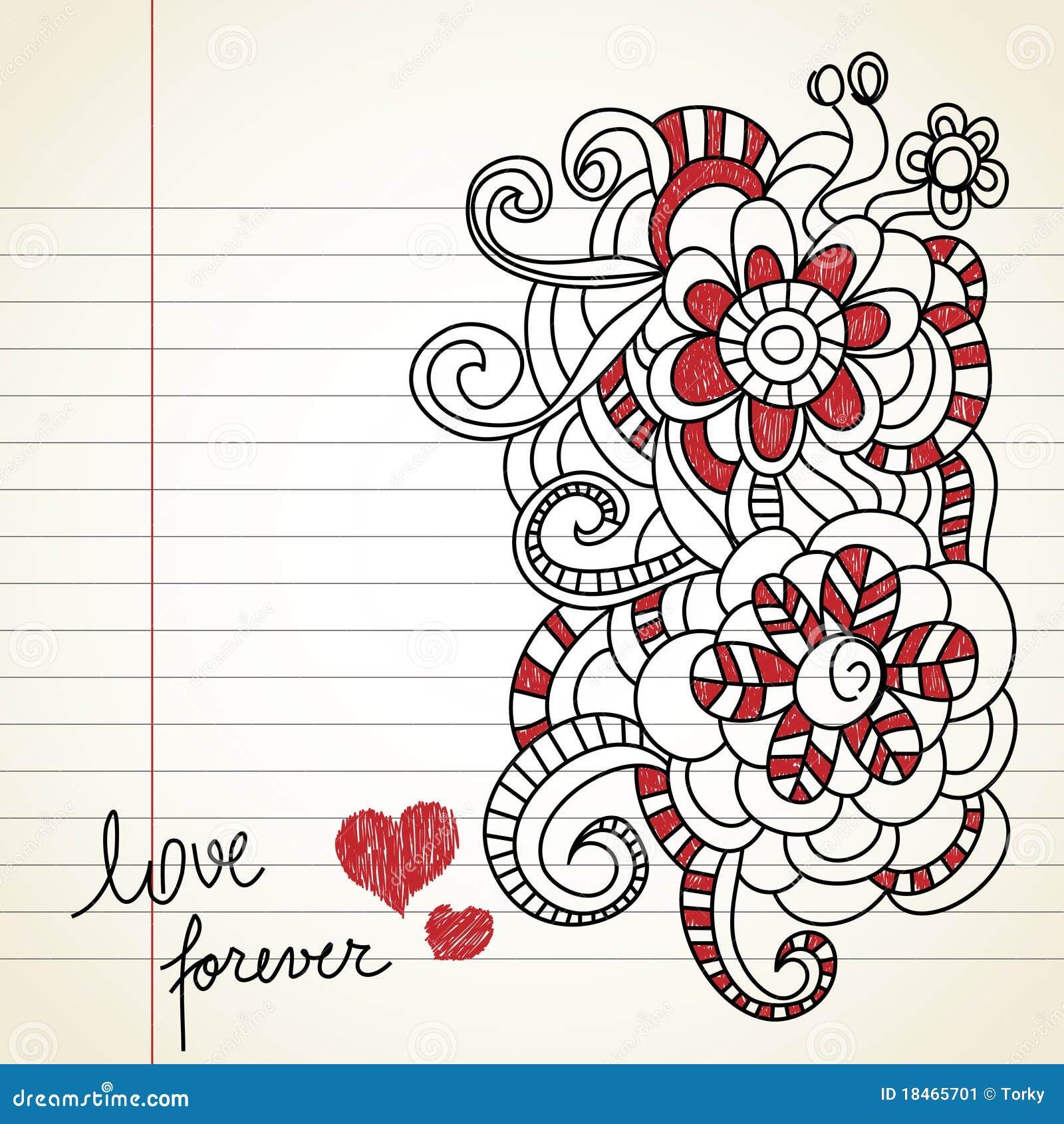 love doodles stock vector illustration of banner illustration
