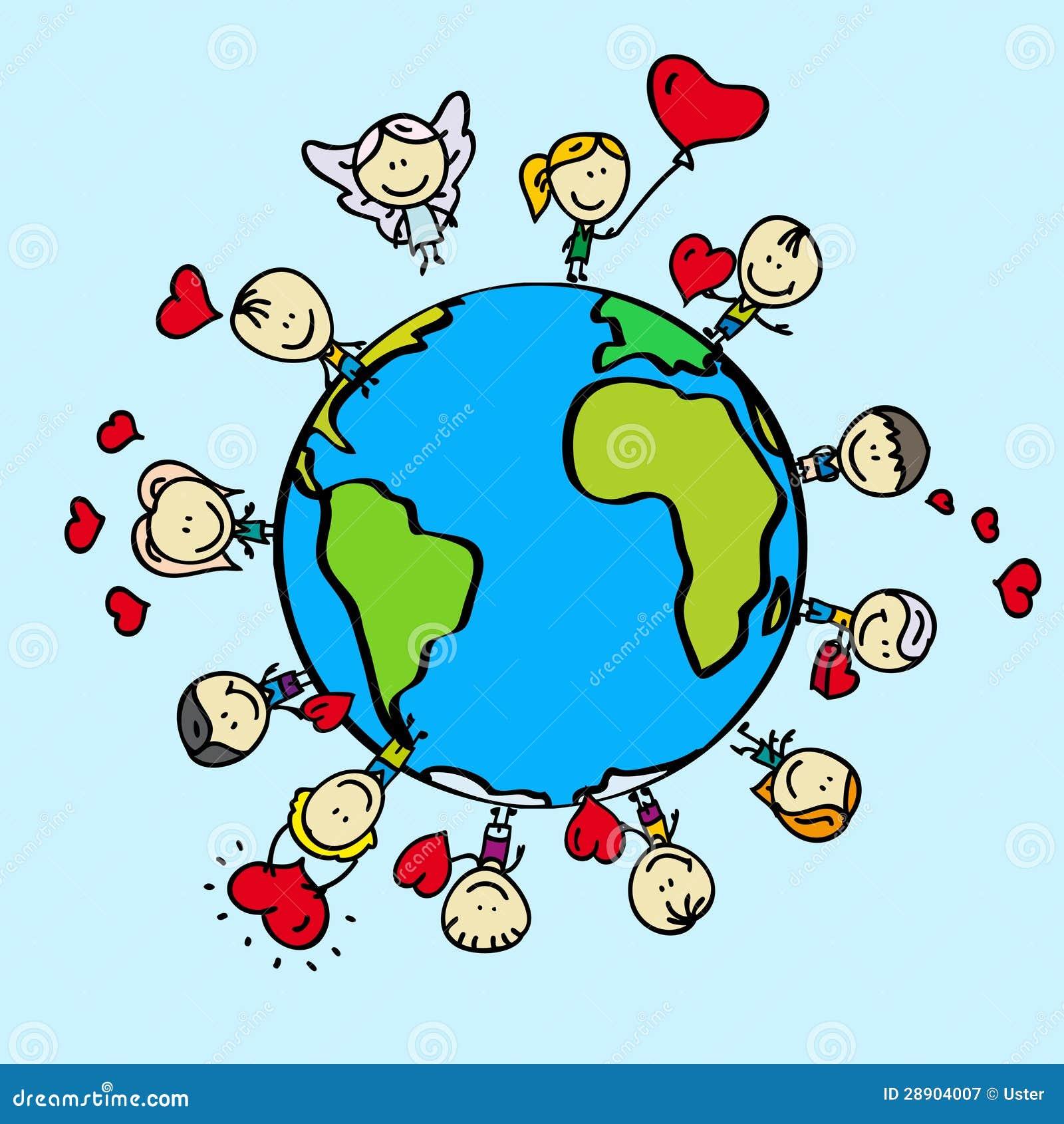 love earth stock vector illustration of love doodle 28904007 rh dreamstime com Earth Globe Clip Art Clip Art Globes Earth World