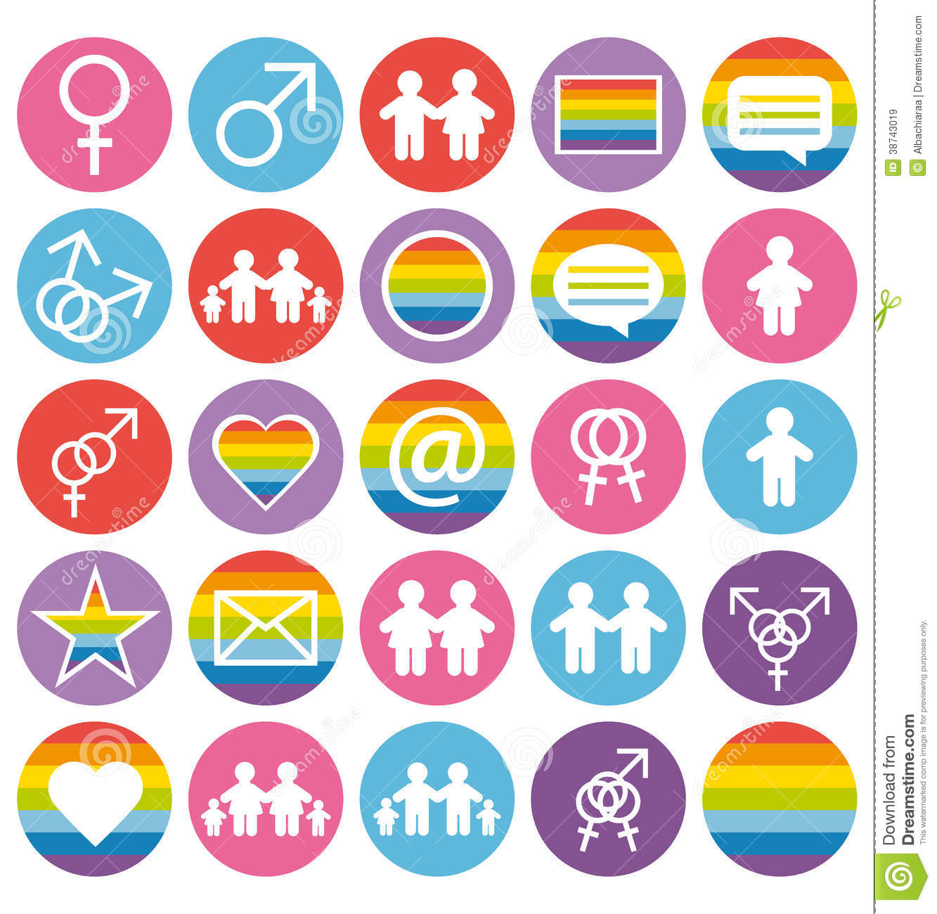 Love, Family And Gays Icons Set. Royalty Free Stock Images ...