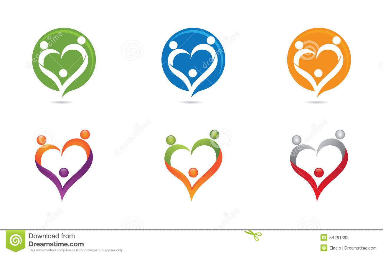 Love Family Logo Stock Illustration Image 54261392