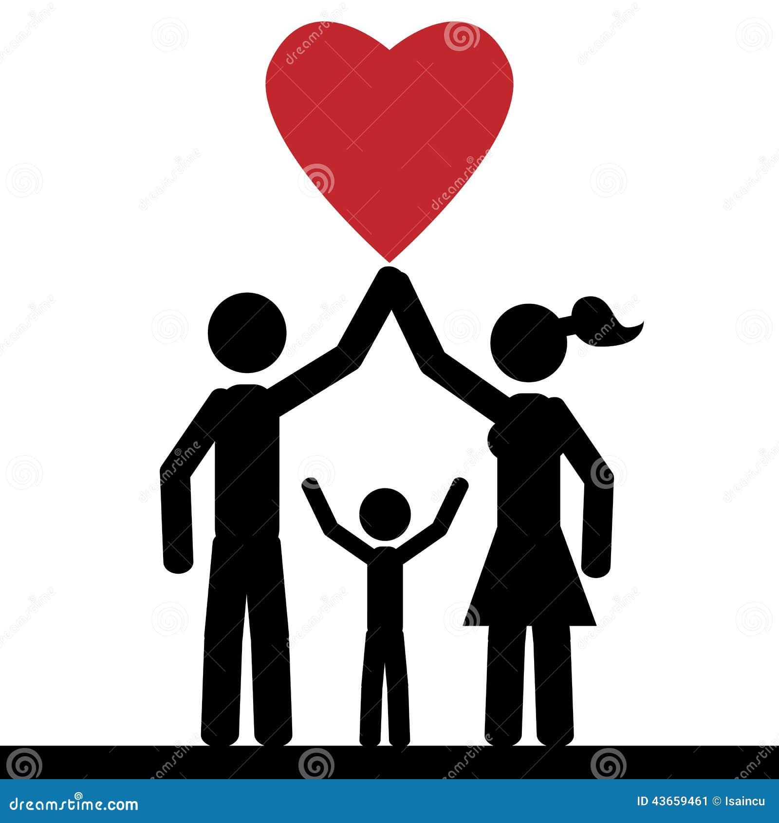 Love family stock vector. Illustration of holding ...