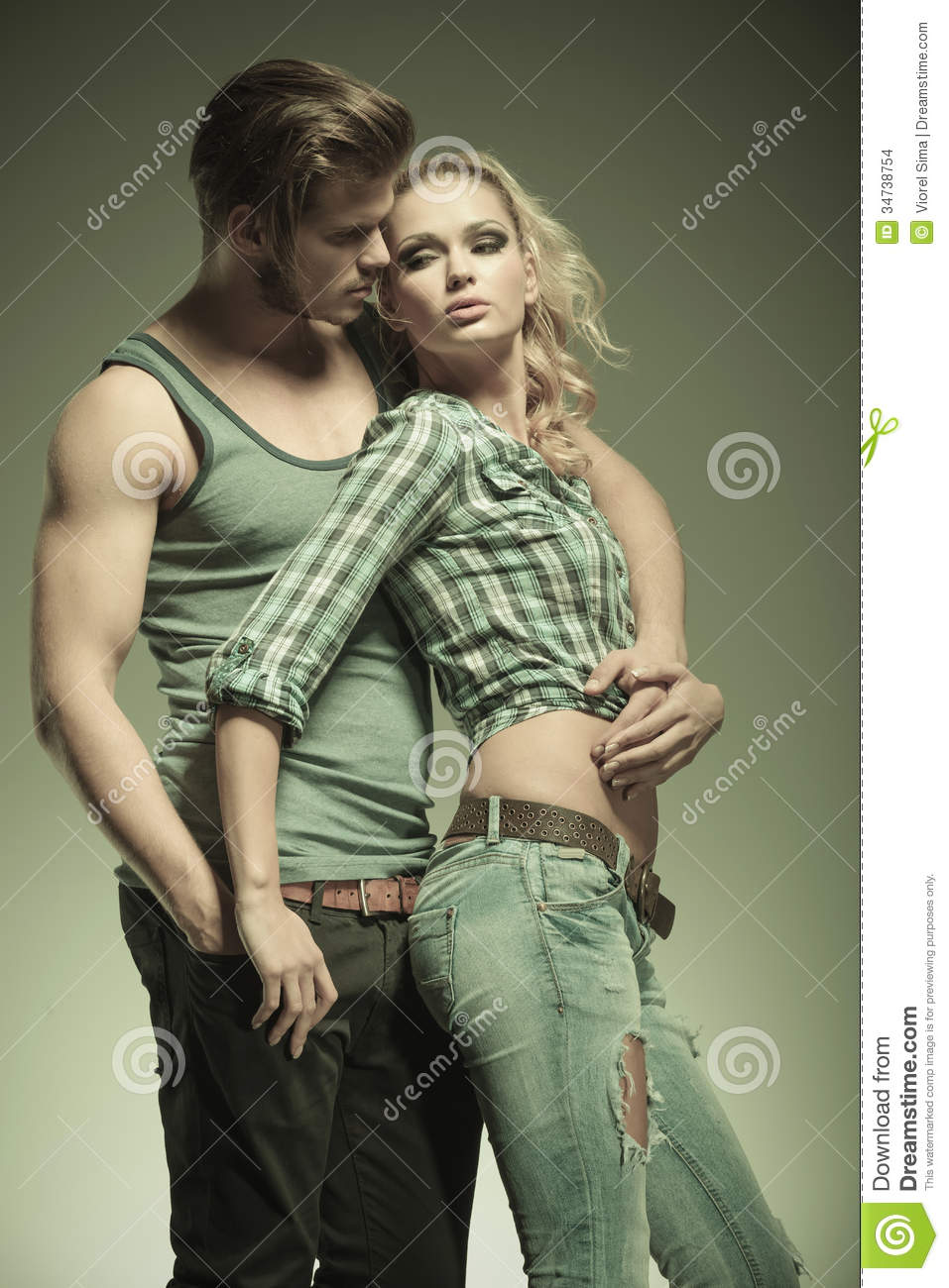 In Love Fashion Couple Stock Photo. Image Of Love, Blue